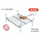 barbecue grill 25x30cm double galvanized algon