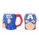 ceramic cup 410ml 3d head Captain America