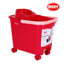 wholesale Car accessories: 14l cube with wheels, handle and drainer red mery