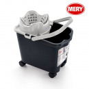 wholesale Car accessories: 14l bucket with wheels, mery gray wringer