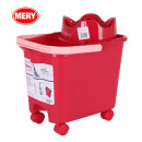 wholesale Car accessories: 14l bucket with wheels, mery red squeegee