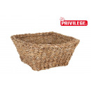 wicker square basket 25x25x11cm privilege