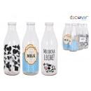 Bouteille de lait 1l 3 designs