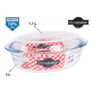wholesale Household & Kitchen: ocuisine oval glass pan with lid 3000ccm