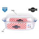 groothandel Huishouden & Keuken: rechthoekige glazen pan met deksel 3000ccm ...