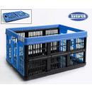 boîte pliante 45l53x37x27cm voilà bleu / noir