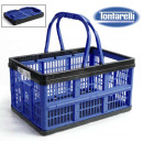 wholesale Home & Living: folding case with handles 16l voilà blue / black