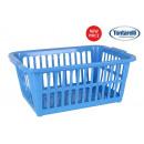 Großhandel Wäsche: Korb Kleidung 35l 58x41cm klassisch blau