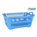 wholesale Household & Kitchen: basket clothes with handles 45l cover line blue