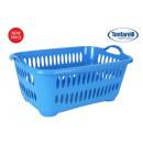 cesta ropa con asas 45l cover line azul