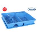 Abtropffläche + Tablett 47x38 scolap blau