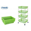 wholesale Small Furniture: cart greengrocer 4 baskets 40x85 myth 4 green