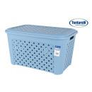 mayorista Ropa: cesta ropa con tapa 58x38x33cm arianna azul