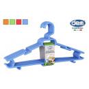 wholesale Home & Living: set of 8 plastic hangers 43x22cm rainbow