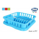 dish drainer with tray 37x34,5x8cm colors e