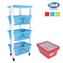 wholesale Small Furniture: green trolley. 3 baskets + band. 39.4x28x86 robus