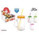 mug with lid and straw 500ccm frutis