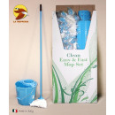 12l bucket + drainer + stick + mop az u colors