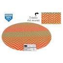 mayorista Casa y cocina: salvamantel pvc redondo naranjarojo 38cm