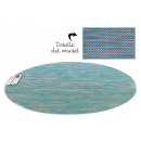 salvamantel pvc oval azul 49x36 cm