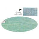 groothandel Tafellinnen: groene ovale onderzetter van pvc 49x36 cm
