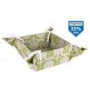 mayorista Salud y Cosmetica: cesta pan algodon verde 18x18x9 cm