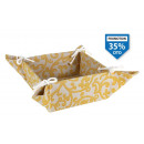 wholesale Wellness & Massage: basket bread cotton yellow18x18x9 cm