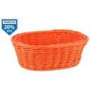 Großhandel Ordnung & Aufbewahrung: pp orange ovaler korb 24,5x18,5x8 cm