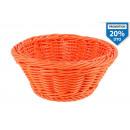 kosár kerek narancs 18,5x7,5 cm