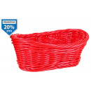 wholesale Organisers & Storage: pp basket oval red 24x14,5x8,5 cm