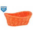 kosár ovális narancs pp 24x14,5x8,5 cm