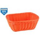 basket rectangular pp orange 23x18x8 cm