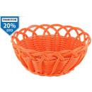 kosár kerek narancssárga 20x9 cm