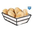 fekete kenyérkosár pamut kosarakkal