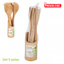 wholesale Garden & DIY store: set of 5 bamboo blades + privilege support
