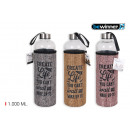 glass water bottle linen cover 1000m bewinn