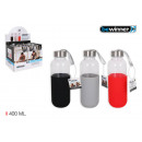 sport water bottle glass / silic 400 bewinn