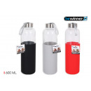 sport water bottle glass / silic 600 bewinn