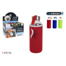 sports water bottle glass cover 400ml bewinner