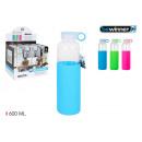 botella sport agua vidrio/silic 600 bewin
