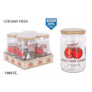 glass jar 660ccm dec tomato