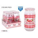glass jar 1000ccm dec strawberry