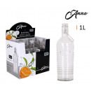 bottle glass 1l cap classic handle anna