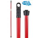 bâton moc rouge 140cm double fil