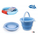 wholesale Cleaning: 5 lt folding plastic bucket supernet