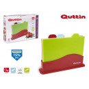 set of 4 cutting boards + support 27x18.5 q