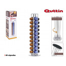 support 40 capsules coffee rotary quttin