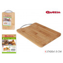 cutting board bamboo / metal 27x20x15c quttin