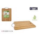 tabla cortar bambú/met.39.5x30x1.5c quttin