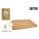 tabla cortar bambú/met. 50x35x1.5cm quttin